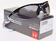 UNDER ARMOUR Stride XL Sunglasses Shiny Black/Gray NEW Sport/Cycle $80