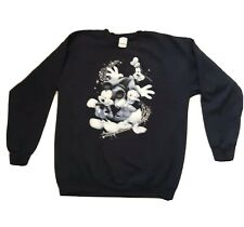 Mickey Mouse ●Donald Duck● Goofy Large Crew Neck Graphic Sweatshirt Shirt Blue