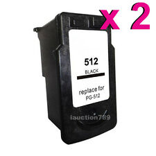 2x Compatible PG512 Ink Cartridge for Canon Pixma MP230 240 280 MX320 350 MP490