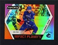 2017-18 17-18 UD Upper Deck Synergy Impact Players Red #IP-7 Daniel Sedin /56