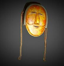 Antique Rare Korean Traditional Wood Carved Hahoe Mask Of Punae Bune Signed.