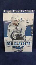 Tampa Bay Lightning 2011 Playoffs Program Round 3 Game 6 Boston Bruins