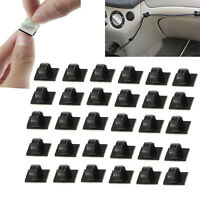 30 pcs Car Wire Tie/Untie Rectangle Cable Holder Mount Clip Clamp Self-adhesive