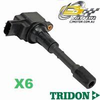 TRIDON IGNITION COIL x6 FOR Nissan 350Z Z33 04/07-04/09, V6, 3.5L VQ35DE
