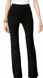 INC Womens Pants Black Size 16 Curvy Fit Bootcut Leg Ponte Knit Stretch $69 402