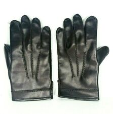 Avon Leather Rabbit Fur Lined Brown Men Gloves Size M Winter Warm