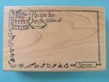 Recipe For: From the Kitchen of: Label Frame 4.5 x 3 DELAFIELD Rubber Stamp