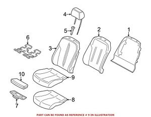 For BMW Genuine Seat Cover Front Right Lower 52107280534