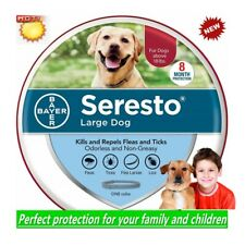 Bayer Seresto Flea and Tick Collar for Large Dog 8 Month Protection and Control