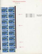 Jamaica 1969 Overprint Varieties & Flaws - 8c SG285, Block with Varieities Noted