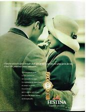 Publicité Advertising 1994 La Montre Festina