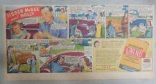 Johnson's Auto Wax Car Polish Ad: Fibber McGee and Molly! 1946 7.5 x 15 inch
