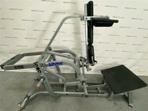 Hammer Strength Plate Loaded Hack Squat. Weight and dumbbells available