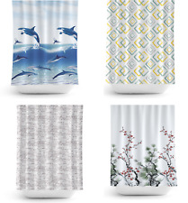 Selection of Funky Fabric Shower Curtains , Various Designs, Extra Long or Wide