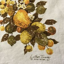 VINTAGE LUTHER TRAVIS 100% LINEN FALL AUTUMN TABLECLOTH FALLANI & COHN