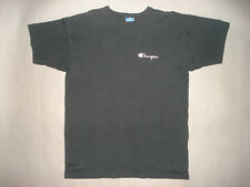 Vintage 90s CHAMPION BRAND BLACK SPELL OUT T SHIRT Made In USA Lightly Worn XL