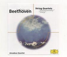 """ BEETHOVEN - STRING QUARTETS - RASUMOVSKY & HARP ""  DEUTSCHE GRAMMOPHON CD."