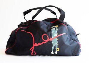 Vintage Nike Air Jordan Black Duffle Bag 90s Nike Gray Tag Michael Weekender