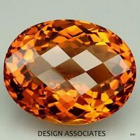 NATURAL MADEIRA CITRINE 8X6 CHECKERBOARD TOP CUT OVAL