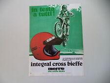 advertising Pubblicità 1979 CASCO HELMET BIEFFE INTEGRAL CROSS