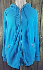 Lane Bryant Womens Hoodie Hooded Jacket Size 14/16 Blue New Without Tags