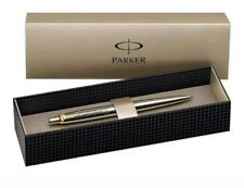 Parker Jotter Ballpoint Ball Pen Stainless Steel Gold Clip *Gift Box/