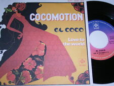 """7"""" - El Coco cocomotion & Love to the World-France 1977 # 4729"""