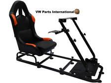 Simulador De Carreras De Juegos silla de asiento de cubo para PS4 XBox PS3 Volante Negro/Naranja