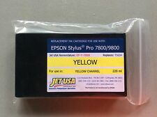 Eclipse Replacement 220ml Inkjet Cartridge Yellow for Epson 7800/9800