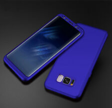 360 Full Protection Luxury Matte Hard Phone Case Cover + Film For Samsung iPhone