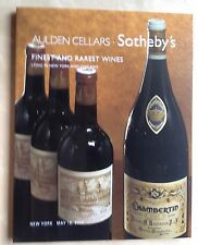 Sotheby's Catalog AULDEN CELLARS FINEST, RAREST WINE IN NEW YORK & CHICAGO 2002