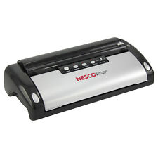 Nesco Deluxe Vacuum Sealer Easy One-Touch Operation With Auto Shut Off Black