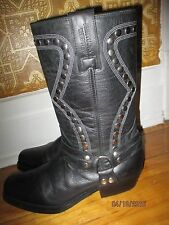 harness stud KENTUCKY WESTERN cowboy motorcycle mens boots size 10 gay interest