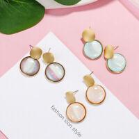 Women Geometric Round Acrylic Earrings Resin Drop Dangle Earring Fashion Jewelry