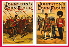 Two unposted repro. Advertising Postcards Johnson's Cornflour Series (A).