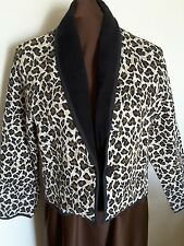 NEW IDENTITY ~  Animal Print Tapestry Ample Jacket Sz L*EXCELLENT ++ COND.