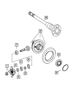 Genuine MOPAR Rear Axle Differential 68019087AA