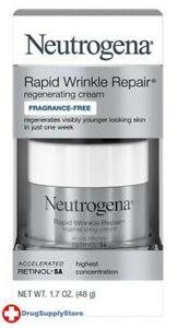 BL Neutrogena Rapid Wrinkle Repair Cream 1.7 oz Frag-Free - Two PACK