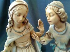 ~Vintage-Fontanini Depose Italy ~4Pc.Nativity Village Figurines