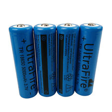 4 X 18650 5000mAh  MAH 3.7V Li-ion Rechargeable Battery for Flashlight