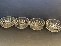 """VTG Set (4) Glass Finger Bowls 4-3/8"""", GORHAM """"Althea"""" clear crystal W. Germany"""