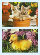 LEAP YEAR PUBL - 2 CHILDRENS 100 PC JIG SAW PUZZLES- DUCKS & KITTENS   ZLY-60100