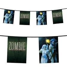 6m Halloween Horror Undead Zombie Wedding Couple Flag Banner Bunting Decoration