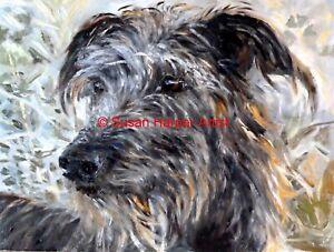 SALE Lurcher Signed Dog Print by Susan Harper Unmounted