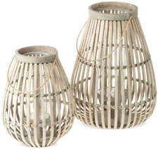 Laternen Holz Holzlaternen Deko Windlichter & Glaseinsätze 1 Stk – 2 Größen