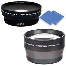 72mm Professional 2x Telephoto & Super Wide Angle Macro Lens for Nikon Bonus