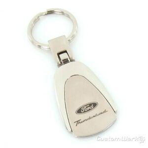 Ford Thunderbird Tear Drop Keychain (Chrome)