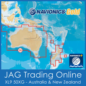 NAVIONICS+ GOLD XL9 50XG CARD AUSTRALIA-WIDE & NEW ZEALAND NZ MAPS CHART GPS SD