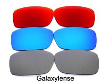 Galaxy Replacement Lenses For Oakley Crankcase Titanium&Blue&Red Polarized 3Pair