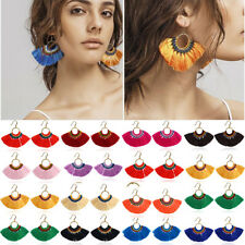 Fashion Women Bohemian Long Tassel Fringe Earrings Boho Dangle Earrings Jewelry